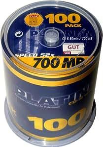 Bestmedia Platinum CD-R700 CD-Rohling 80min 700MB 52x, 100er Spindel