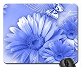 Blue Ecstasy Mouse Pad, Mousepad (Flowers Mouse Pad)