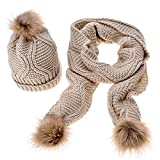 Outflower - Set de bufanda, gorro y guantes - para mujer Beige beige Medium