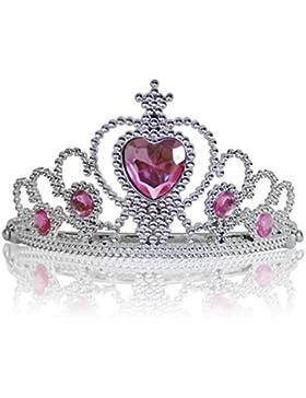 Diadema Corona con Pietre Coroncina Tiara da Principessa per Bambine e Ragazze per Halloween, Compleanno, Carnevali...