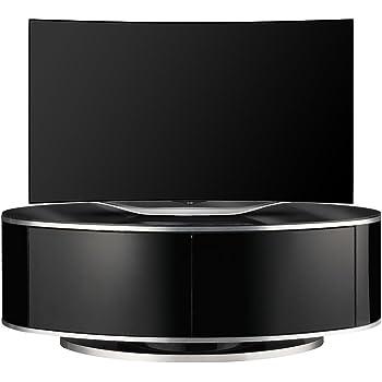 MDA Designs LUNA High Gloss Black Oval TV Cabinet