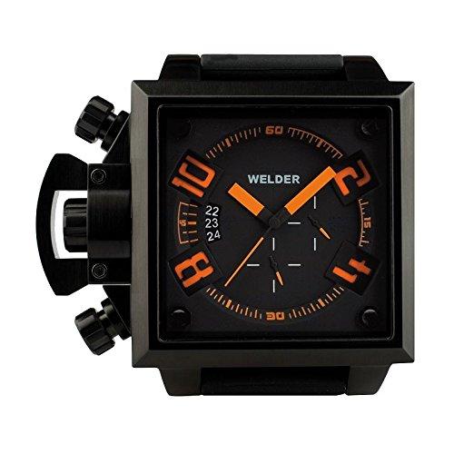 Coffret reloj Welder hombre K-25modelo Cronógrafo negra y naranja–4305/1747K25–en Promo