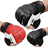 MMA Handschuhe professionelle hochwertige Qualität Boxhandschuhe Sandsack Training Sparring Muay Thai Kickbox Freefight Kampfsport BJJ Sandsackhandschuhe Gloves FOX-FIGHT schwarz, XL