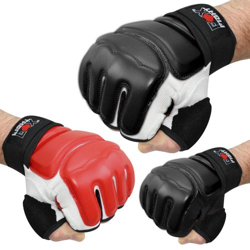 MMA Handschuhe professionelle hochwertige Qualität Boxhandschuhe Sandsack Training Sparring Muay Thai Kickbox Freefight Kampfsport BJJ Sandsackhandschuhe Gloves FOX-FIGHT