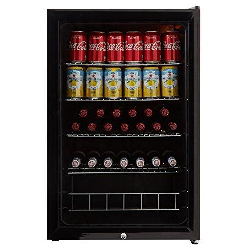 51ZN3rETgGL. SS500  - Cookology CBC130BK Undercounter Drinks Fridge | 54cm Glass Door Beverage Cooler