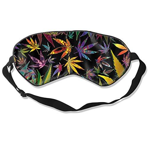 Augenmaske Trippy Multi Pot Weed Leaves Schlafmaske verstellbar atmungsaktiv Schlafmaske Augenmaske -