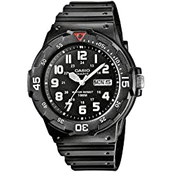 Casio Collection – Herren-Armbanduhr mit Analog-Display und Resin-Armband – MRW-200H-1BVEF