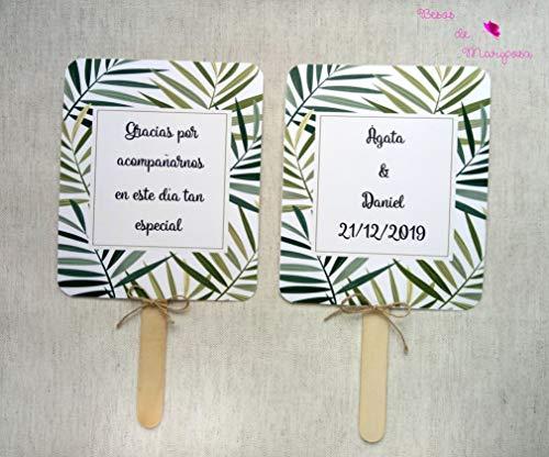 Paipai für personalisierte Hochzeiten. Lieferung erfolgt montiert. Hochzeitsfans. 50 Stück