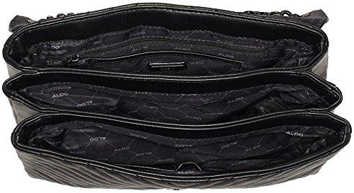 ALDO Damen Angle Umhängetasche, 11 x 22 x 29.5 cm Schwarz (Black Synthetic)