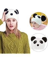 249f14805b58 Sunroyal Lot de 2 bonnets parent-enfant en tricot, élastique, cagoule  chaude multicolore