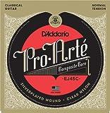 D'Addario EJ45C - Juego de cuerdas para guitarra clásica de nylon en Sol.028-.044 (tensión media)
