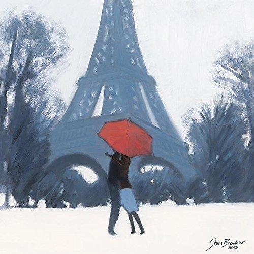 Jon Barker neige Temps pour un baiser 40x 40cm Toile, multicolore