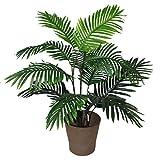 Leaf Blatt-Entwurf UK 90cm Künstliche Palme Baum - Groß - Topf in Schwarzem Kunststoff-Topf