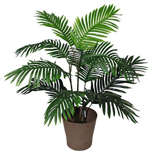 (Leaf Blatt-Entwurf UK 90cm Künstliche Palme Baum - Groß - Topf in Schwarzem Kunststoff-Topf)