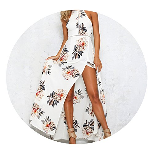 YR-R Ladies Summer Flowers Lace Dresses Women Print Dresses Halters Chiffon Skirts