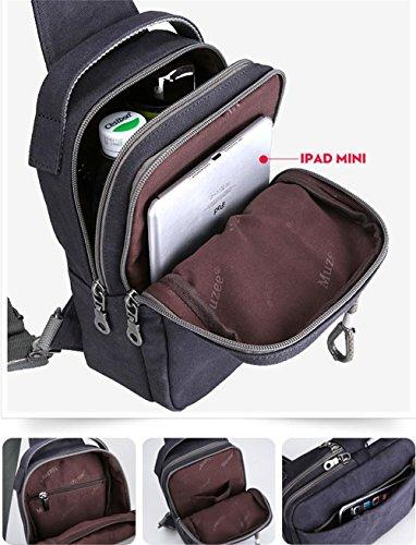 Global-Männer Koreanische Welle Paket Kurierbeutel beiläufig Leinwand Umhängetasche Mann Tasche Rucksack Taschen Hellbraun