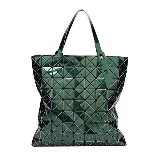 Frauen Variety Falttasche Geometric Umhängetasche Darkgreen