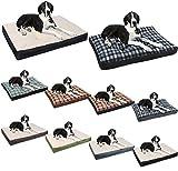 WOLTU® HT2063gr2 lit chien,tapis de chien Coussin pour chien matelas chien lit Pet chien lit chats en ouate de polyester,Taille L 80*60*10cm,Gris