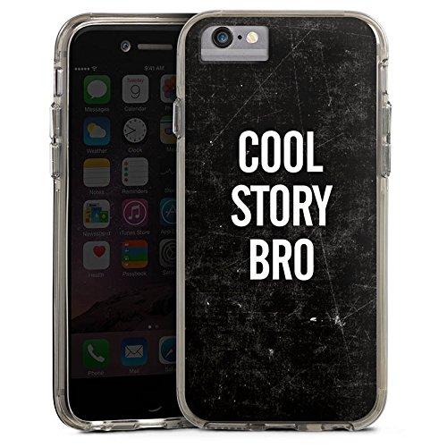 Apple iPhone 8 Bumper Hülle Bumper Case Glitzer Hülle Phrases Sprüche Sayings Bumper Case transparent grau