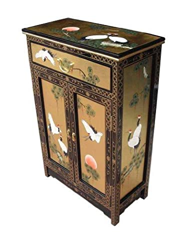 Gold Leaf Cabinet, Oriental Chinese Furniture by China Warehouse Direct