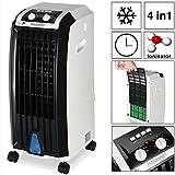 Monzana® 4in1 mobile Klimaanlage mobiles Klimagerät Ionisator Luftkühler...