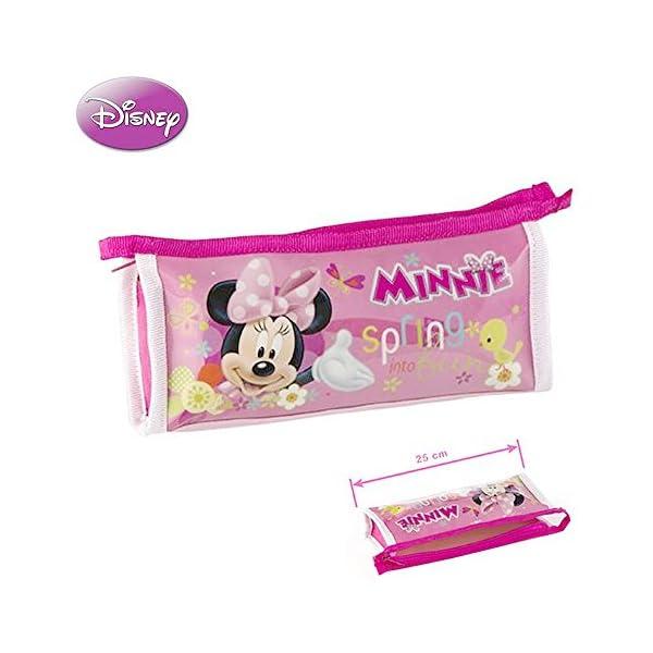 Home Line Estuche Escolar Minnie Mouse (25×4,5×10,5 cm) Rosa