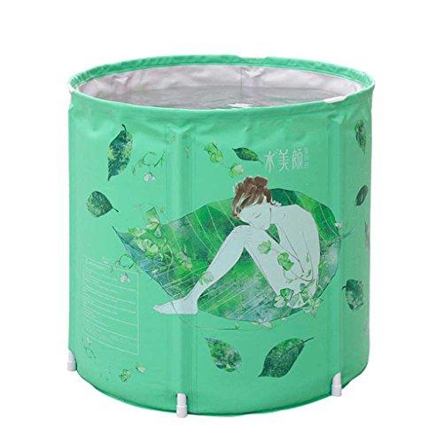 Isolation Élargir plier Baril de bain vert baignoire Pas besoin Gonflé Épaississant Plastique adulte Baril de bain