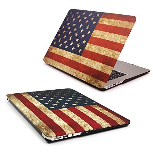 Urcover® 360 Grad Crystal Hard Case kompatibel mit MacBook Retina 12 Zoll   Ultra Slim in USA Flagge - Usa Echte Aktentasche