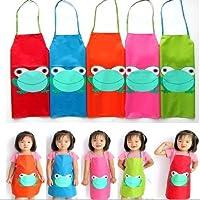 Tablier Cuisine Enfant Peinture Maternelle Dessin Grenouille Blouse 5 Couleur au choix