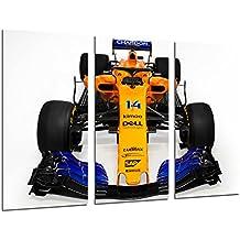 Cuadro Moderno Fotografico Coche Formula 1, McLaren MCL33, McLaren F1 2018, Fernando Alonso
