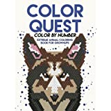 Color Quest Color by Number: Extreme Animal Coloring Book for Grownups: Color by Numbers for Adults -  Adult Activity Books