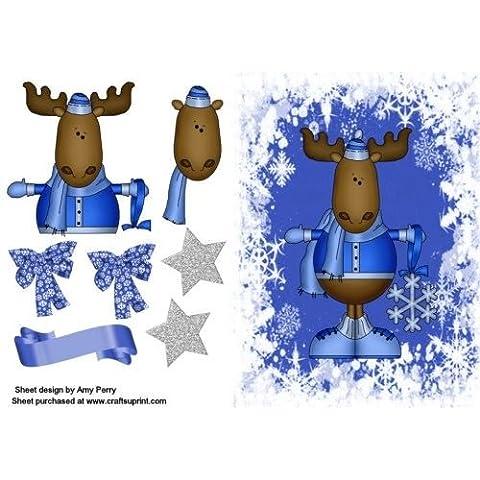 Colore: blu su fondo blu motivo: fiocco di neve di carta del Amy Perry