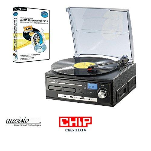 Und Plattenspieler Cd-player (auvisio Plattenspieler: Kompakt-Stereoanlage MHX-550.LP für Schallplatte, CD, MC, MP3 (Plattenspieler CD Kassette Radio))