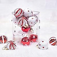 Christbaumkugeln Gestreift.Suchergebnis Auf Amazon De Fur Weihnachtskugeln Rot Weiss