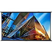 Excelvan - Pantalla de Proyector 100'', Pantalla de Proyección Diagonal 16 : 9, Valor de Ganancia 1.1 Ángulo de visión 160 °, 221 x 125 cm, (Color Negro)