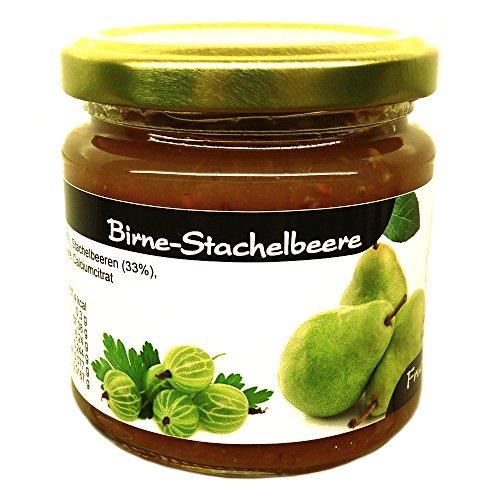 """Xylit Fruchtaufstrich """"Birne-Stachelbeere"""" ohne Zuckerzusatz, nur mit Xylit gesüßt, 67% Fruchtanteil (mehr als Marmeladen), Low Carb, 200 g"""