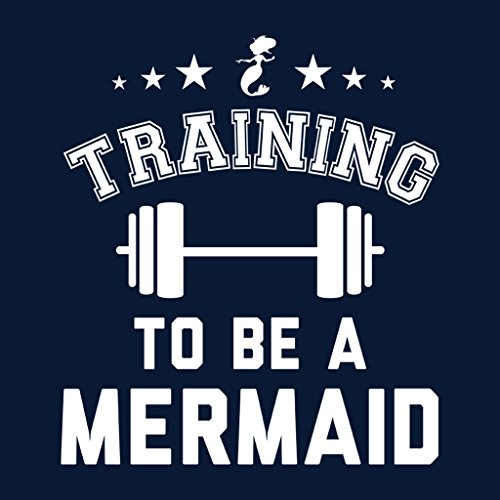Training To Be A Mermaid Women's Hooded Sweatshirt Navy blue