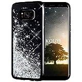 KOUYI Galaxy S8 Hülle Glitzer, Luxus Fließen Flüssig Glitzer Mode 3D Bling Dynamisch Silikon Flexible TPU Kreativ Shiny Glitter Cover Beschützer für Samsung Galaxy S8 (Silber)