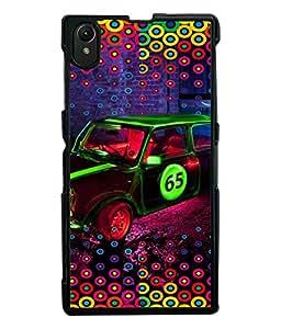 PRINTVISA Abstract Car Case Cover for Sony Xperia Z1::Sony Xperia Z1 L39h