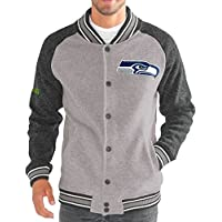 "Seattle Seahawks G-III NFL ""The Ace"" Men's Premium Sweater Varsity Jacket"