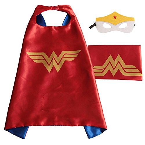 Superhero Cape with free Mask for kids - many superhero designs available