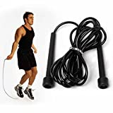 Top Quality Pro Speed Rope Skipping Rope Jumping Speed Boxing Exercise Rope (Black)