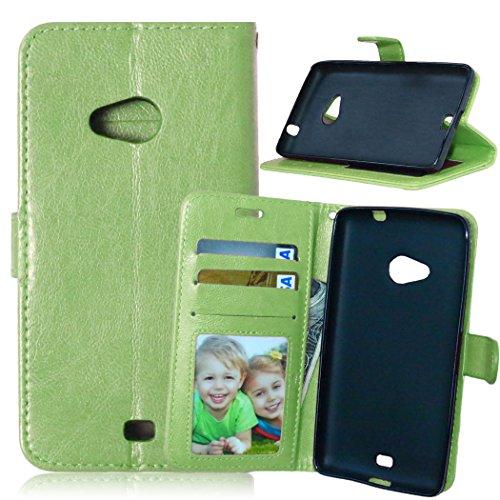 Nancen Nokia Lumia 625 Lederhülle Neu Style Acht Farbe Weich PU Flip Case Ledertasche/Schutz Etui, Einfach Vintage Kollektion Karten Slot Foto Wallet Hülle Handy Tasche Zubehör
