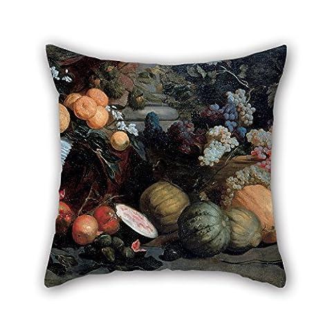 Bestseason Taie d'oreiller de peinture à l'huile Jan Roos–Nature morte avec des fruits et des légumes, pour gril ami, famille, Boy ami, elle, garçon, intérieur, 40,6x 40,6cm/40par 40cm (2Côtés)