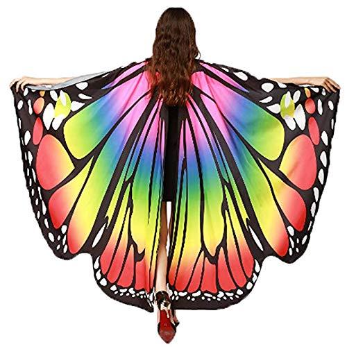 Frmarche Schmetterling Kostüm Damen Schmetterling Flügel Umhang Schal -