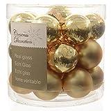 Kaemingk Mini-Weihnachtskugeln aus Glas 24er-Set (Durchmesser 2,5 cm) Gold