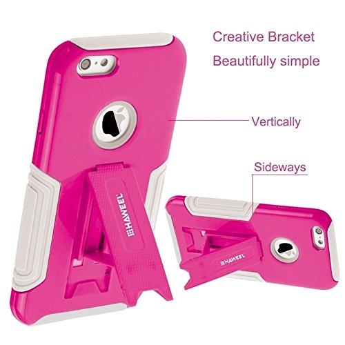 Phone case & Hülle Für IPhone 6 / Iphone 6s, Dual Layer TPU Kunststoff Combo Fall mit Kickstand ( Color : Orange ) Magenta