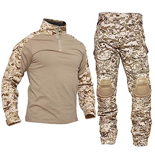 JUNSHIFU Taktische Uniformen Männer Tarnung Militärische Kleidung Sets Sicherheitsanzüge Jagdkleidung Desert XXL -