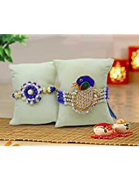 Tied Ribbons Set of 2 Premium Rakhi for Bhai with Rakshabandhan Special Card