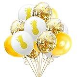 15 Pcs Latex Ballons Flamant Feuilles Tropicales Ballons Mariage Ballons de Fête...